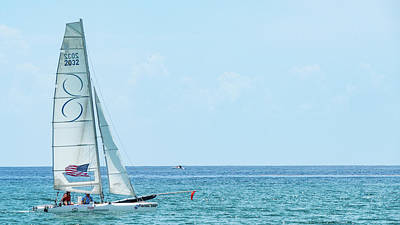 Photograph - Colorful Catamaran 6 Delray Beach Florida by Lawrence S Richardson Jr
