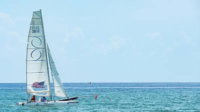 Photograph - Colorful Catamaran 6 Delray Beach Florida by Lawrence S Richardson Jr