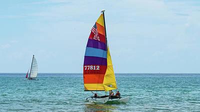 Photograph - Colorful Catamaran 7 Delray Beach, Florida by Lawrence S Richardson Jr