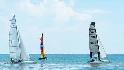 Photograph - Colorful Catamarans 10 Delray Beach Florida by Lawrence S Richardson Jr