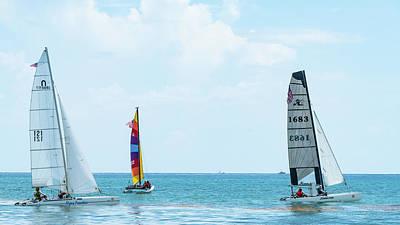 Photograph - Colorful Catamarans 10 Delray Beach Florida by Lawrence S Richardson Jr
