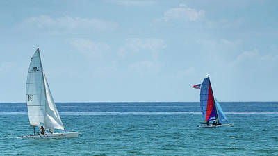 Photograph - Colorful Catamarans 2 Delray Beach Florida by Lawrence S Richardson Jr