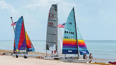 Photograph - Colorful Catamarans 4 Delray Beach Florida by Lawrence S Richardson Jr