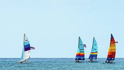 Photograph - Colorful Catamarans 5 Delray Beach Florida by Lawrence S Richardson Jr