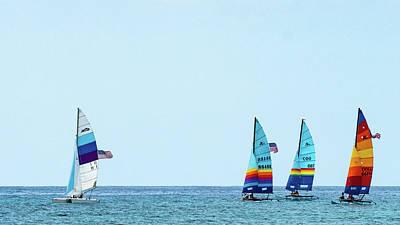 Photograph - Colorful Catamarans 5 Delray Beach Florida by Lawrence S Richardson Jr