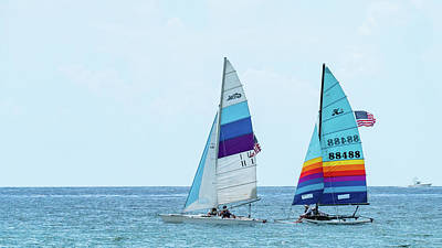 Photograph - Colorful Catamarans 6 Delray Beach Florida by Lawrence S Richardson Jr
