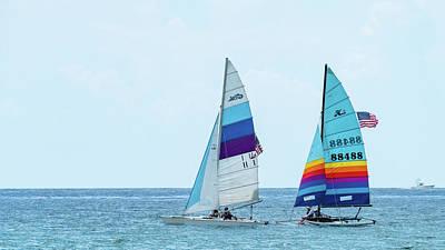 Photograph - Colorful Catamarans 6 Delray Beach Florida by Lawrence S Richardson Jr
