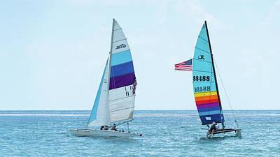 Photograph - Colorful Catamarans 7 Delray Beach Florida by Lawrence S Richardson Jr