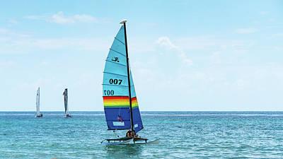 Photograph - Colorful Catamarans 8 Delray Beach Florida by Lawrence S Richardson Jr