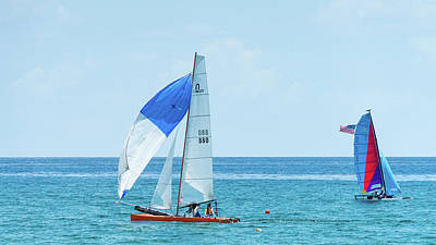 Photograph - Colorful Catamarans 9 Delray Beach Florida by Lawrence S Richardson Jr