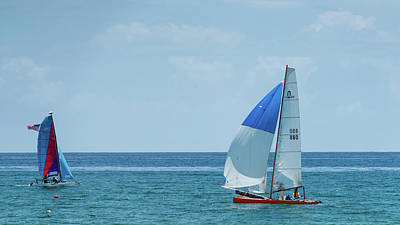 Photograph - Colorful Catamarans Delray Beach Florida by Lawrence S Richardson Jr