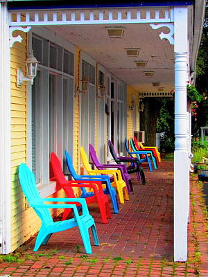 Photograph - Colorful Chairs by John Hartman