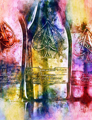 Champagne Painting - Colorful Champagne by Jon Neidert