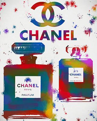 Gabrielle Painting - Colorful Chanel Perfume by Dan Sproul