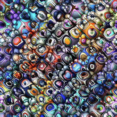Digital Art - Colorful Chaotic Contours by Phil Perkins