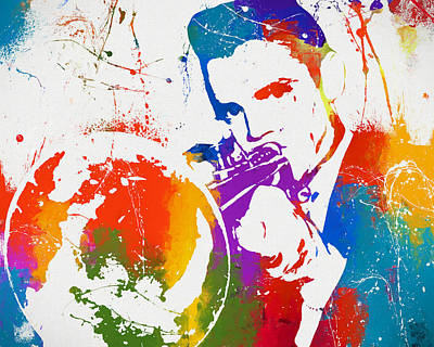 Trumpet Painting - Colorful Chet Baker by Dan Sproul