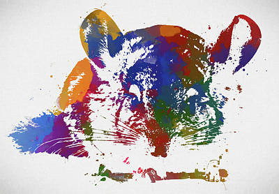Painting - Colorful Chinchilla by Dan Sproul