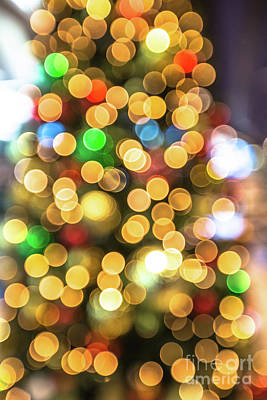 Photograph - Colorful Christmas Background by Benny Marty