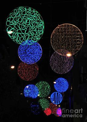 Photograph - Colorful Christmas Lights Decoration Display In Madrid, Spain. by Akshay Thaker 'PhotOvation'