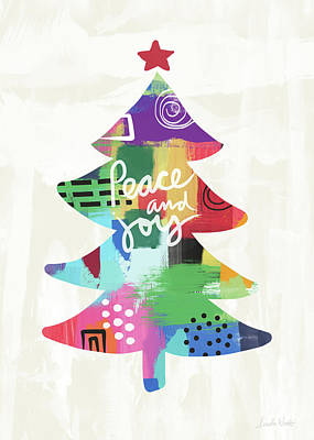 Peace Painting - Colorful Christmas Tree- Art By Linda Woods by Linda Woods