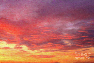 Painting - Colorful Clouds Sunrise by Donna Munro