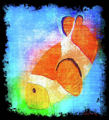 Hawaii Sea Turtle Digital Art - Colorful Clownfish by Ken Figurski