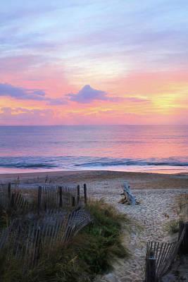 Rehoboth Photograph - Colorful Coastal Sunrise by Lori Deiter
