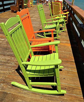 Photograph - Colorful Cocoa Beach Chairs by Denise Mazzocco
