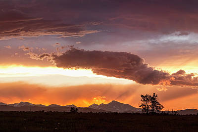 Photograph - Colorful Colorado Front Range Summer Night by James BO Insogna