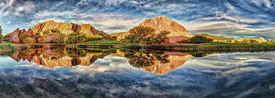 Art Print featuring the photograph Colorful Colorado - Panorama by OLena Art Brand
