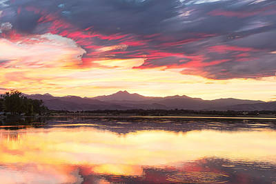 Photograph - Colorful Colorado Rocky Mountain Sky Reflections Timed Stack by James BO Insogna