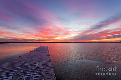 Photograph - Colorful Colorado Sunrise At Lon Hagler Reservoir In Loveland Co by Ronda Kimbrow