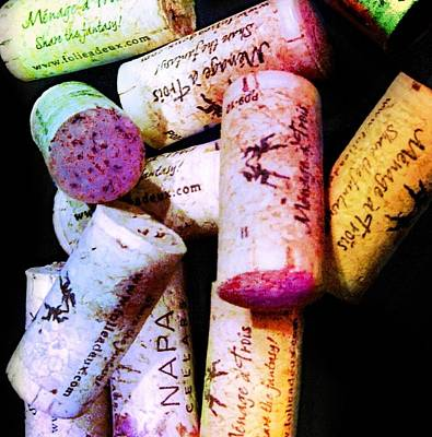 Colorful Corks Art Print by Cindy Edwards