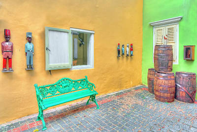 Caribbean Corner Photograph - Colorful Corner by Nadia Sanowar