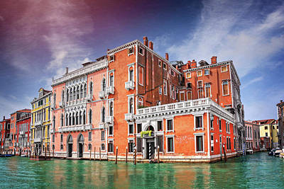 Photograph - Colorful Corner Of The Grand Canal Venice Italy  by Carol Japp