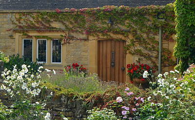 Photograph - Colorful Cotswold Stone Cottage by Carla Parris