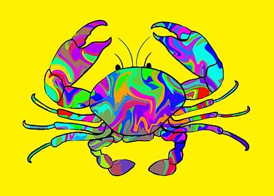 Pop Art - Colorful Crab by Chris Butler