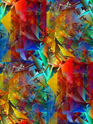 Random Mixed Media - Colorful Crash 11 by Chris Butler