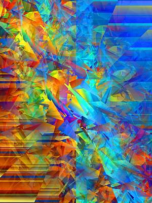 Random Mixed Media - Colorful Crash 12 by Chris Butler