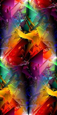 Random Mixed Media - Colorful Crash 13 by Chris Butler