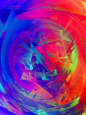 Random Mixed Media - Colorful Crash 14 by Chris Butler