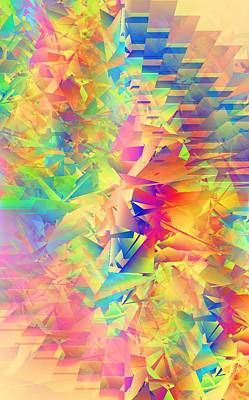 Random Mixed Media - Colorful Crash 2 by Chris Butler