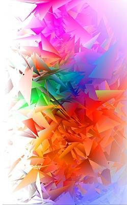 Colour Digital Art - Colorful Crash 5 by Chris Butler