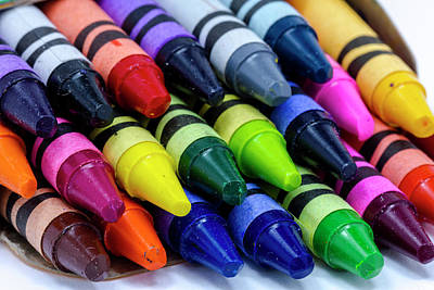 Photograph - Colorful Crayons by Teri Virbickis