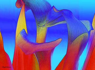 Lilies Digital Art - Colorful Crowd by Michelle Wiarda