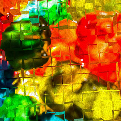 Digital Art - Colorful Cubic Extrusion by SR Green
