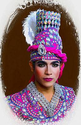 Photograph - Colorful Culture Entertainer by Ian Gledhill