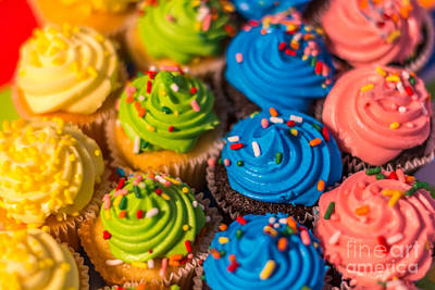 Photograph - Colorful Cupcake by Pamela Williams