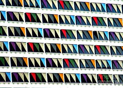 Colorful Curtainwall Art Print by Randall Weidner