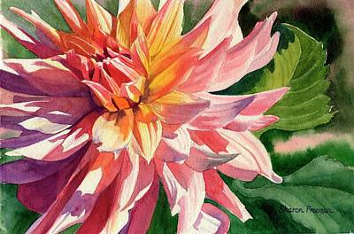 Dahlia Wall Art - Painting - Colorful Dahlia by Sharon Freeman